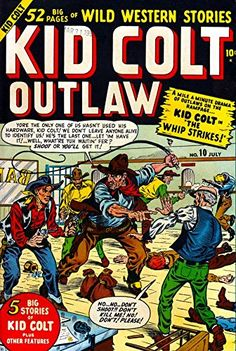 'Kid Colt, 1950' Fantastic A4 Glossy Art Print Taken From…