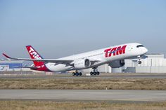 A TAM começa a voar com seu primeiro A350 a partir de janeiro 2016 (Airbus)
