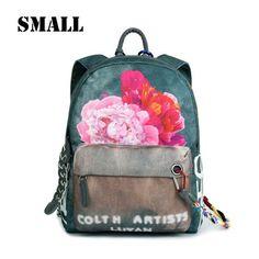BVLRIGA Women Backpack Floral Printing Travel Back Pack School Bags Backpacks For Teenage Girls School Bag Designer Backpack