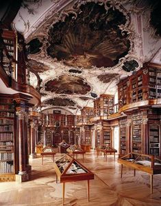 Library at Abadia de Melk in Austria - The Most Strikingly Beautiful Libraries Around the World - Photos