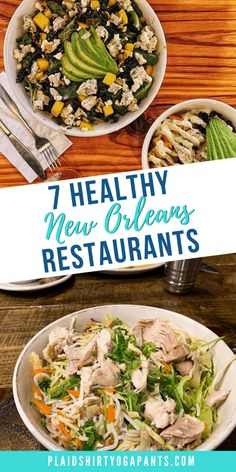 First, we all know that going out to eat is not the healthiest thing, but when looking for healthy f Healthy Foods To Eat, Healthy Dinner Recipes, Healthy Eating, Chicken Quinoa Salad, New Orleans Recipes, Smoked Pulled Pork, Louisiana Recipes, Vegan Friendly, Foodie Travel