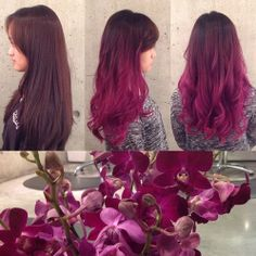 This has got to be one of our favourite interpretations of this year's official hue- a FABULOUS by Blanche Macdonald Pro Hair graduate/master colourist Aaron Brousseau! Fucsia Hair, Magenta Hair, Ombre Hair, Pink Hair, Rose Violette, Beautiful Hair Color, Coloured Hair, Hair Affair, Dye My Hair