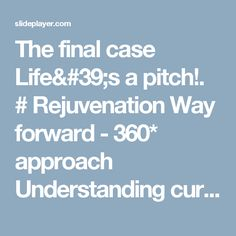 The final case Life's a pitch!. # Rejuvenation Way forward - 360* approach Understanding current status of the brand Brand Scan: Brand Objective - Brand. -  ppt download
