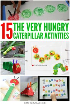 15 Super cute The Very Hungry Caterpillar Activities perfect for kids. Cute crafts for home and educational activities for EYFS - all great fun!