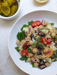 Greek Chickpea & Quinoa Salad