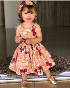 Image may contain: 1 person, child Girls Dresses Sewing, Baby Girl Dresses, Flower Girl Dresses, African Dresses For Kids, African Wear Dresses, Little Girl Fashion, Kids Fashion, Kids Party Wear Dresses, Baby Dress Patterns