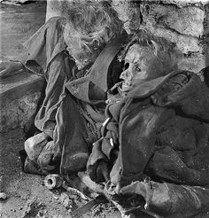 The charred bodies of two German civilians who were killed in an Allied aerial raid during the Bombing of Dresden are unearthed from an air raid shelter shortly after the end of the war. In four raids. Dresden Bombing, Us Bombers, Air Raid, Story Of The World, World War One, World History, European History, History Facts, Military History