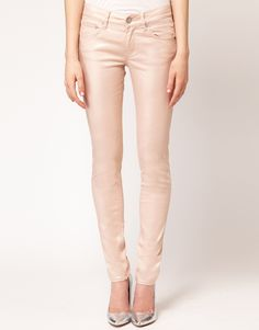 gold metallic skinny jean ++ french connection