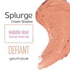This copper color is everything!  Tag a friend who would look stunning in the new Splurge Cream Shadow in Defiant!