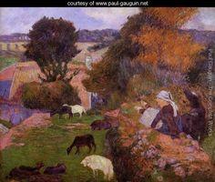 Breton Shepherdess 2 - Paul Gauguin - www.paul-gauguin.net