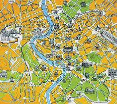 Rome, Italy - Travel Guide Map
