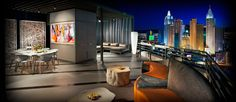 Skylofts suites atop the MGM Grand Hoel with private terraces. Average about $1000/ nt
