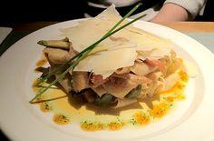 Papardelle al pesto rojo y verduritas al wok, del restaurante Teresa Carles (Barcelona)
