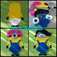 Felt craft, Monttessori school Quiet book for my son Page - Minions By Codliko
