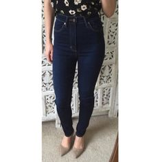 """🌿V🌿 Neuw high waisted skinny jeans """"Marilyn high rise skinny"""". Bought full price at Fred Segal in LA, worn twice. Super skinny super high. Inseam is 32"""" but with the stretch they can work for shorter people. I'm wearing these un-folded in the pics and I'm 5'3. Price firm. Neuw Jeans"""