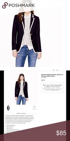 NWT J.crew wool tipped hacking jacket NWT J. Crew Jackets & Coats Blazers