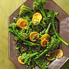 This classic lemon technique brings sunny, lip-puckering tang to any side dish of greens. Try our fresh and healthy broccolini dish for fewer than 50 calories per serving the whole family will love.