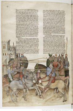 La Quête du Saint Graal et la Mort d'Arthus, de « GAUTIER MAP » 62v