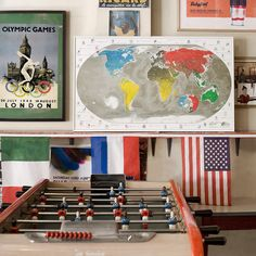 Digg the Rene' Pierre Foosball table...spent way too much of my youth in-front...#wickedpullshot