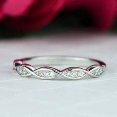 Etsy #ad Swirl Art Deco Wedding Band, 2.5mm Stacking Band, Layering Band, Engagement Ring, Man Made Diamond S