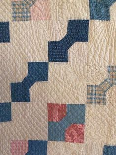 Detail, Antique Handmade Early 1900s Bow Tie Quilt Outstanding Quilting Nice Cozy Feel | eBay, i_spy_design.