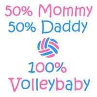 Baby Volleyball onesie - Our VolleyBaby 100% One Piece is perfect for all the new mom and moms to be! #volleychick #volleyball