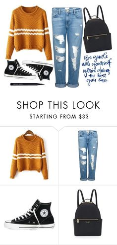 """Autumn"" by supersquirrelgirlq ❤ liked on Polyvore featuring Frame, Converse, Henri Bendel and Bobbi Brown Cosmetics"