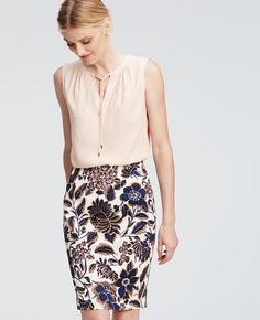 Love printed pencil skirts. I'm developing something of a collection (in various sizes.) Sometimes I get carried away with the skirts and then don't have the right top to wear them with.