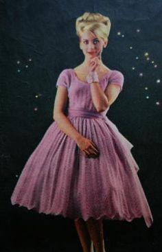 'Dance in cobweb lace' made from Munrospun Morning Haze 2 ply, 1960