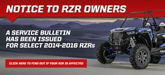 Polaris announced that they have an approved corrective-action plan for its RZR XP Turbo vehicles, following the stop-sale/stop-ride advisory in late July. Owners of model-year 2016 RZR XP Turbo vehicles can now contact their dealer to arrange for service, and Polaris will be giving all 2016 RZR XP Turbo owners an additional 12 months of warranty.