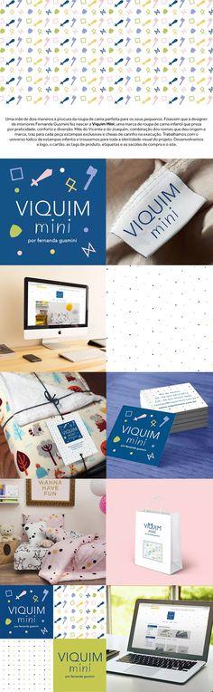 Trabalhamos com o universo lúdico da estampas infantis e trouxemos para toda a identidade visual do projeto. Desenvolvemos a logo, o cartão, as tags de produto, etiquetas e as sacolas de compra e o site.  | logo design graphic design identidade visual branding embalagem packaging pattern infant |