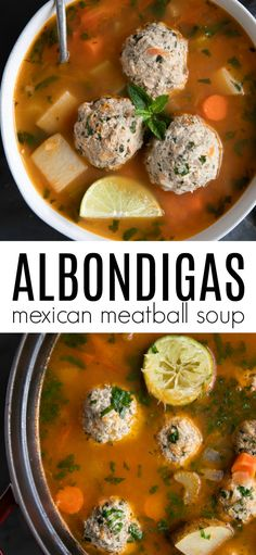 Albondigas Soup (Mexican Meatball Soup) - Happy Cooking , In the food recipe that you read this time with the Albondigas Soup Recipe Mexican, Mexican Meatball Soup, Mexican Meatballs, Mexican Food Recipes, Soup Recipes, Chicken Recipes, Cooking Recipes, Healthy Recipes, Ethnic Recipes
