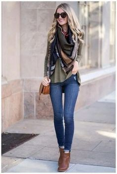 Chic outfits, scarf outfits, preppy outfits spring, winter outfits, dress o Ways To Wear A Scarf, How To Wear Scarves, Fall Scarves, Preppy Outfits, Chic Outfits, Scarf Outfits, Blanket Scarf Outfit, How To Wear A Blanket Scarf, Fall Winter Outfits