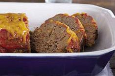 Meatloaf from Kraft Foods. Love this meatloaf. I add green pepper and use sage stuffing in place of the chicken stuffing.