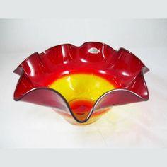 Vintage & Rare Blenko Tangerine Glass Crackle by ClevelandFinds, $89.99