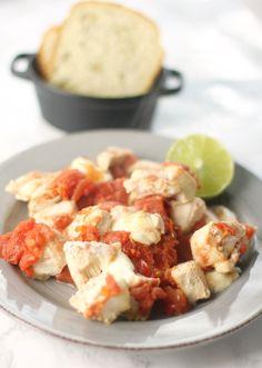 Kylling med tomat og mozzarella
