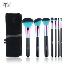 New Colorful 7 pcs Makeup Brush Set  Professional Pinceaux Maquillage Beautiful Powder Blush Eyeshadow Make Up Brushes With Bag #clothing,#shoes,#jewelry,#women,#men,#hats,#watches,#belts,#fashion,#style