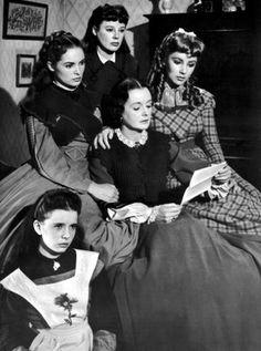 Margaret O'Brien, Janet Leigh, June Allyson, Mary Astor and Elizabeth Taylor in Little Women (1949)