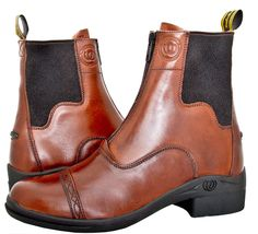 Hoof & Woof Womens Chocolate Full Grain Leather Comfort Paddock Zip Boot