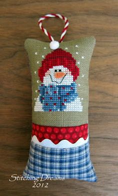 Yet another cute way to finish cross-stich ornaments; one of the places this pattern can be found is here -> https://www.stitchingbitsandbobs.com/cgi-bin/Store/showimage.cgi?AStitchersHands0LetItSnow600