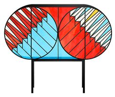 Credenza Furniture Collection by Patricia Urquiola Patricia Urquiola, Stained Glass Door, Stained Glass Panels, Contemporary Cabinets, Contemporary Furniture, Modern Cabinets, Mobiles, Staining Cabinets, Vogue Living