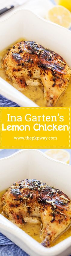 Inas lemon chicken is a no fuss dish thats comforting, familiar, and utterly satisfying. Make ahead of time or right before serving.