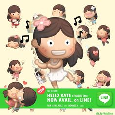 """As promised before, to go along with the Kate sticker set released earlier this month, the Joo (boy) sticker set for Line is now available on Line messenger (search for """"hjstory"""" under creator market)! Now couples can have their own dedicated chatting emoji for all chatting needs ^__^ (Between, BBM, etc coming soon!) bit.ly/hjsline"""