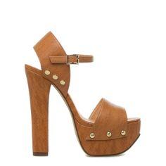 block-heeled platform