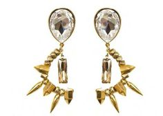 Assad Mounser Crystal Spike Earrings    Houston Museum Of Natural Science