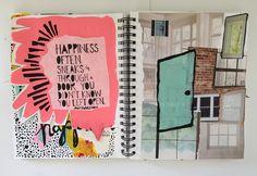 @elizabethev | Season of Happy | Get Messy Art Journal