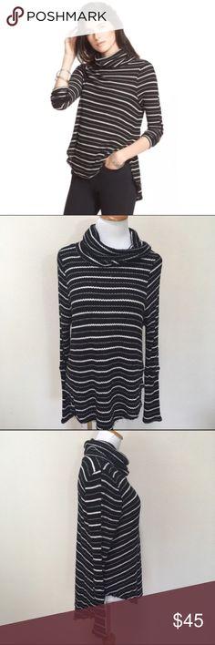 We The Free FP Drippy Thermal Kristina Striped M N Free People Sweaters Cowl & Turtlenecks