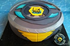 beyblade-cake:+thermal+pisces+-+for+my+son?s+birthday....