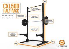Maxwod CXL500 Series Half Rack | MaxWOD Fitness