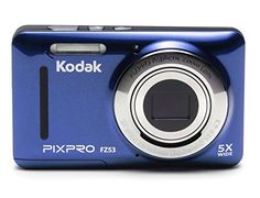 Kodak FZ53BL Point and Shoot Digital Camera with 27 LCD Blue ** More info could be found at the image url. (Note:Amazon affiliate link)
